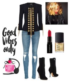 """oDe to Shateria"" by tarvette on Polyvore featuring Balmain, Emporio Armani, Smashbox, NARS Cosmetics, Victoria's Secret, women's clothing, women's fashion, women, female and woman"