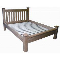 Lacar Solid Oak 5FT (Kind Size) Bed  www.easyfurn.co.uk Solid Oak Furniture, Outdoor Furniture, Outdoor Decor, Oak Panels, Drawer Fronts, Double Beds, Simple Lines, Sun Lounger, Home Decor
