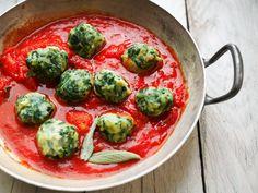 Recette des boulettes de Nice à la blette et sauce tomate