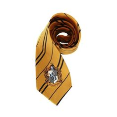 Hufflepuff Tie ($20) ❤ liked on Polyvore featuring costumes, harry potter, accessories, filler, tie, harry potter costume and harry potter halloween costumes