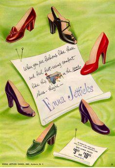 affiche ancienne pour chaussure super jolie <3