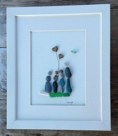 Pebble art gift Home decor pebbles picture Pebble Art Family, Pebble Pictures, Art Friend, Arts And Crafts, Diy Crafts, Sea Glass Art, Shell Art, Beach Art, Engagement Gifts