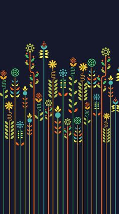 Overgrown flowers Stretched Canvas . iPhone wallpaper