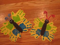 Preschool Crafts for Kids*: Spring Butterfly Handprint Craft