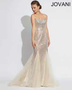 Jovani 79227 Beaded sexy mermaid Jovani gown features sweetheart neckline, beautiful beading detail and a tulle skirt