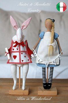 Alice e il Bianconiglio modello PDF italiano di Bunnycottageshop