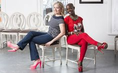 women who wear metal taps on their high heel shoes | Casilda Grigg and Chyna Whyne in their killer heels Photo: Andrew ...