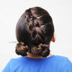Hairstyles | Hair Ideas | Hairstyles Ideas | Braided Hair | Braided Hairstyles | Braids for Girls | Braids for Little Girls | Toddler Hairstyles | Toddler Hair Ideas | Braids | Updos | Half Up | Ponytails | Pull-Through Braid | Messy Buns | Buns