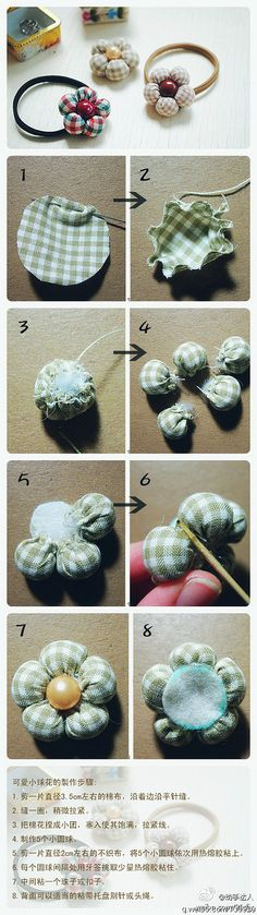 Super cute stuffed brooch! Perfect for tiny fabric scraps that is laying around! Step-by-step pictures (chinese site, but the pictures tell the whole story anyway)