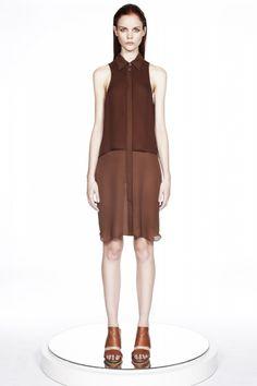 ERIN BARR : Boyish Button-Down Silk Dress