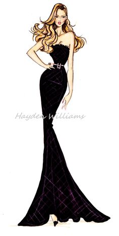 Hayden Williams Fashion Illustrations — Hayden Williams for Modelinia: Color Me Model
