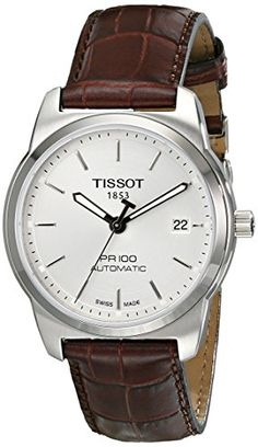 Men's Wrist Watches - Tissot Mens T0494071603100 PR 100 Silver Automatic Dial Watch *** Check this awesome product by going to the link at the image.