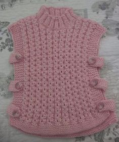 Crochet Baby Poncho, Baby Cardigan Knitting Pattern Free, Baby Boy Knitting Patterns, Baby Sweater Patterns, Knit Baby Sweaters, Crochet Poncho Patterns, Baby Girl Crochet, Crochet Baby Clothes, Baby Knitting