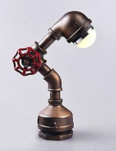 millšŠsime loft lampe industrielle tuyau bureau Lampe de table en fer de style ršŠtro cadeaux lumiššre d'anniversaire: Amazon.fr: Luminaires et Eclairage