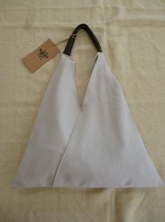 Grey Triangle Shopper Bag by Mujostore on Etsy https://www.etsy.com/listing/129251027/grey-triangle-shopper-bag