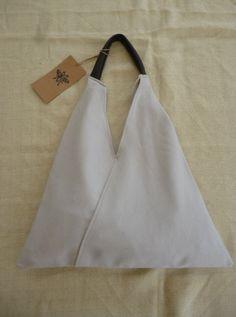 Grey Triangle Shopper Bag by Mujostore on Etsy https://www.etsy.com/listing/129251027/grey-triangle-shopper-bag