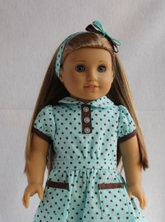 1930's Style Dress Made to fit American Girl by CjsLittleBoutique, $32.00