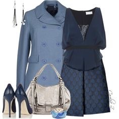 """Pale Blue Coat"" by carolinez1 on Polyvore"