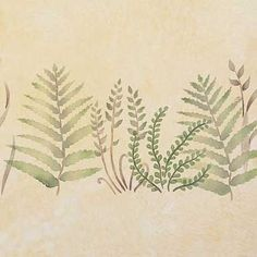Bring your Garden of Eden inside with our Baby Ferns Furniture Stencil. Stencil the leaves of ferns on cabinets, tables, and doors for a soothing natural look.