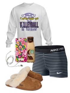 """""""5ever"""" by sofiaestrada ❤ liked on Polyvore featuring NIKE, UGG Australia, women's clothing, women's fashion, women, female, woman, misses and juniors"""