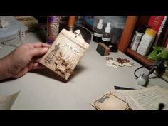 Tutorial for my vintage pockets and banner. - YouTube