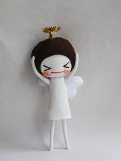 What a cool handmade doll :)