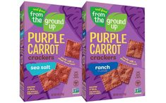 Real Food From The Ground Up introduces Purple Carrot Crackers - FoodBev Media Cauliflower Chips, Whole Food Recipes, Snack Recipes, Snack Brands, Squash Vegetable, Plant Based Snacks, Orange Square, Food Packaging Design, Whole Foods Market