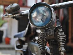 Stary motocykl. Chennai Indie. Foto: D. Jaworska