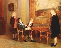 Peter the Great with the young King Louis XV of France at Versailles