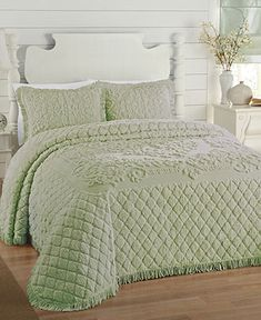 LaMont Home Josephine Bedspread I would love to have a chenille bedspread.Hummm birthday is coming maybe? Bedspreads Comforters, Chenille Bedspread, Chenille Fabric, Master Bedroom, Bedroom Decor, Bedroom Rustic, Suites, Beautiful Bedrooms, Bedding Collections