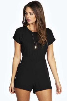 Maddox Capped Sleeve Woven Playsuit at boohoo.com