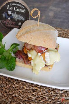 Burger au camembert via @lolibox