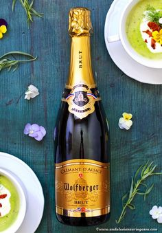 This fantastic Cremant d'Alsace from Wolfberger  is a great (and affordable!) alternative to Champagne. A recipe for this, too, on the b log!