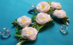 Fabric flowers:polyantha rose/Flores de tela:polyanthus rosa/Цветы из тк...