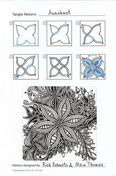 I love this auraknot tangle pattern. One of my all time faves. Zentangle. Zentangle. Education. ????????.