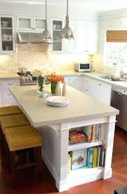 Image result for small kitchen island with bookshelf