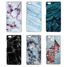 For Huawei P8 Lite Case Back Cover Hard Shell Marble Stone Image Painted P8lite Phone Bags For Huawei P8 Lite Celular Capa