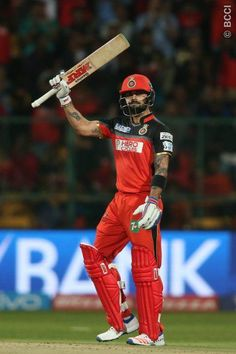 The next god of cricket Virat Kohli ! #Virat #Kohli hit his fourth ton of #IPL2016 , leading #RCB's charge against #KXIP in #Bangalore.