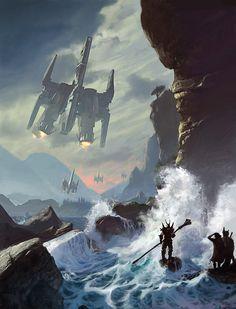 The Descent - Concept art, Scenery/Landscapes, Sci-fi