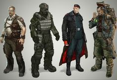 2nd from the left;  Bulletstorm concepts