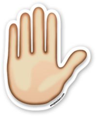 Raised Hand | Emoji Stickers