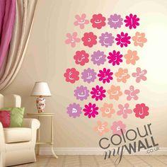 Arabic Alphabet Flowers  Muslim Vinyl Wall Decal by ColourMyWall