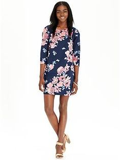 Love the large floral print pattern....Women's Floral Shift Dresses | Old Navy
