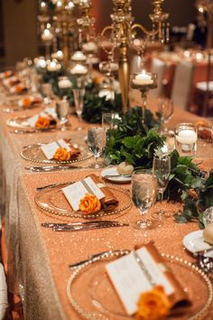Citrus and greenery. Some Like It Classic Wedding & Event Design. Photography: Bridgette Marie Photography - www.bridgettemarie.com