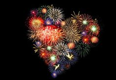 Resultado de imagem para feu d artifice coeur Heart In Nature, Heart Art, I Love Heart, Happy Heart, Fire Works, Independence Day, Heart Shapes, Valentines, Artwork