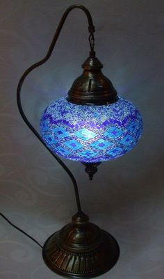 Turkish mosaic table lamp (which may have to be rewired for U S 110 v) Chandeliers, Chandelier Lamp, Turkish Lamps, Stained Glass Lamps, Tiffany Lamps, Antique Lamps, Home And Deco, Oil Lamps, Lampshades