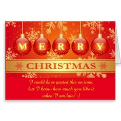 Funny #Belated Merry #Christmas #Wish Greeting #Card