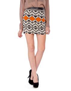 Leathered Chiffon Skirt - 2020AVE
