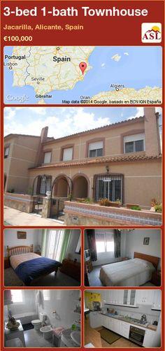 3-bed 1-bath Townhouse in Jacarilla, Alicante, Spain ►€100,000 #PropertyForSaleInSpain