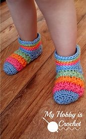 Starlight Toddler Slippers, new Free #crochet Pattern with Tutorial on My Hobby is Crochet Blog!